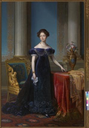 Portret van Anna Paulowna, Prinses van Oranje Franciscus Josephus Kinsoen Olieverf op doek, 242 x 160 cm Koninklijk Paleis Amsterdam Koninklijke Verzamelingen, Den Haag