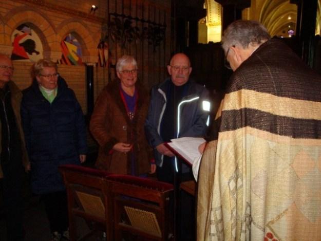 Samen met de getuigen Ineke en Fre
