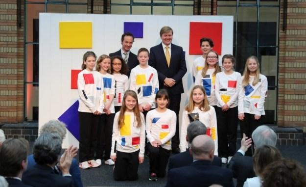 Koning opent tentoonstelling Piet Mondriaan en Bart van der Leck. Foto: Paul Ridderhof