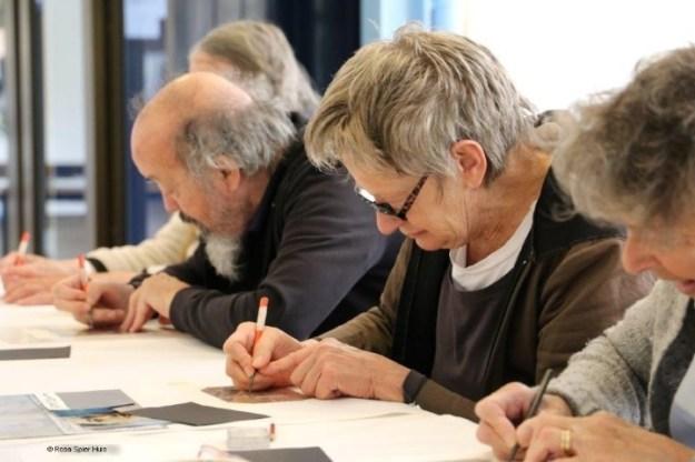 Rosa Spier Huis, bewoners workshop etsen