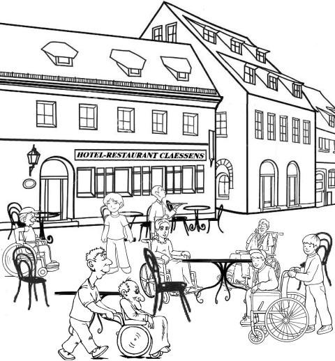 Frans Claessens uit ''Beperkt en toch Genieten'', café-restaurant tijdens het winkelen