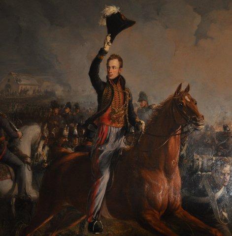 Willem II tijdens de slag bij Waterloo, Paleis Soestdijk, foto: Marianne Visser van Klaarwater