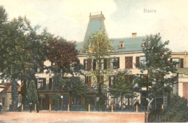 Baarn, waar nu de Hema staat bevond zich vroeger Hotel Velaars, Baarnse Horeca in historische panden/Wil Hordijk