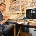 Haarlemse striptekenaar Gerben Valkema brengt hommage aan Willy Vandersteen