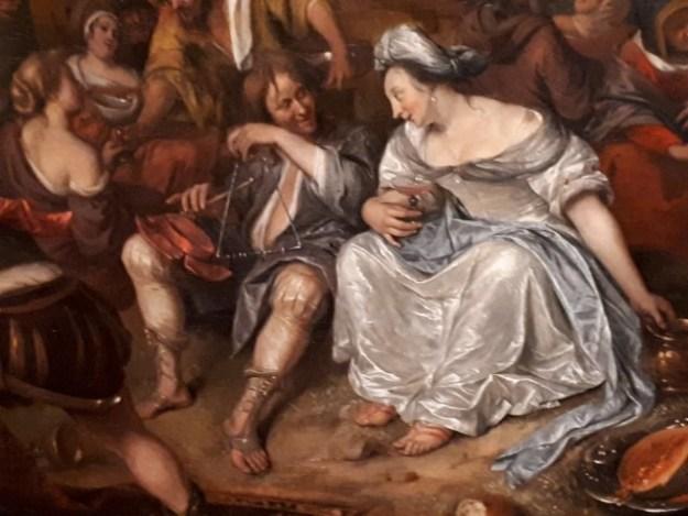 Historieschilder Jan Steen: fragment uit 'de aanbidding van het gouden kalf''.