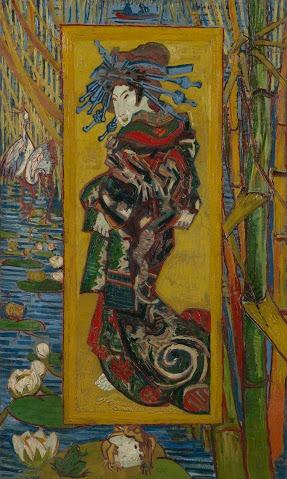 Japanse prenten, olieverf op doek, 100.7 cm x 60.7 cm ,Van Gogh Museum, Amsterdam (Vincent van Gogh Stichting)