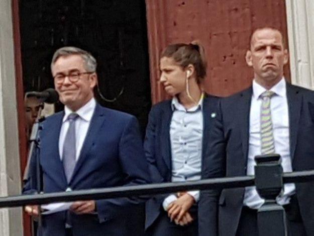 Burgemeester Jos Wienen, 14 oktober 2018, zelf aanwezig tijdens massale steunbetoging