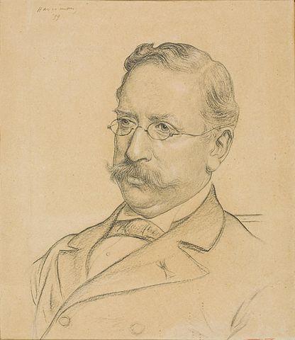 Abraham Bredius, getekend door Haverman