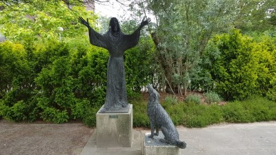 Bijbelse tuin Hoofddorp, sint Franciscus en de wolf