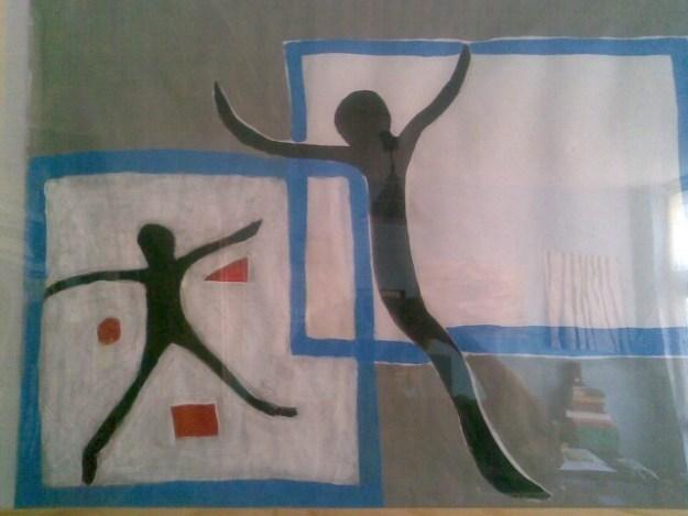 Ketamine geeft een gevoel van vrijheid, zoals ook  ''Twee figuren in lijst'', uit 'Vallen'' van Sandra van Beek