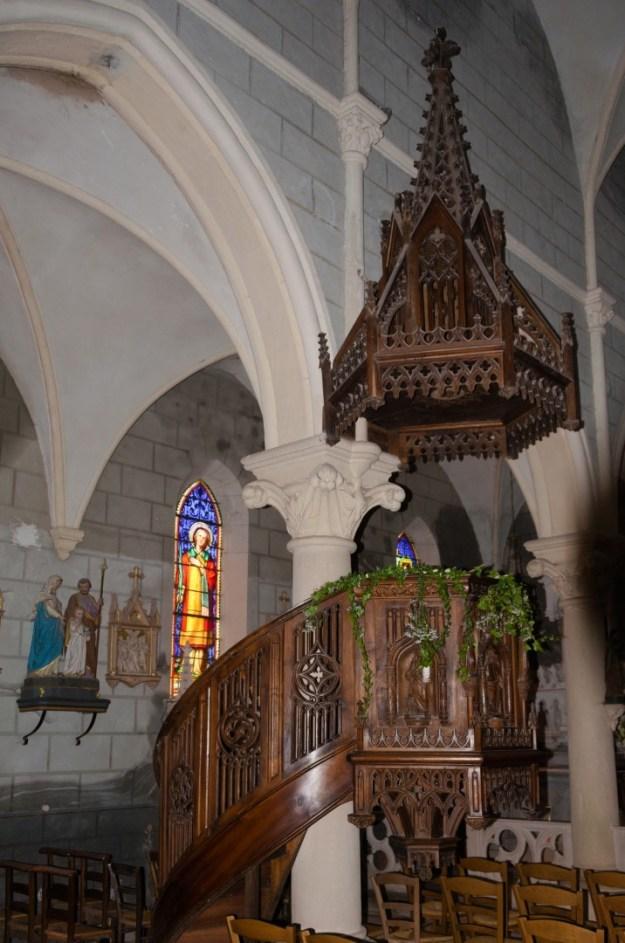 Preekstoel La vieille Église in le Crozet , foto Rolf Merle