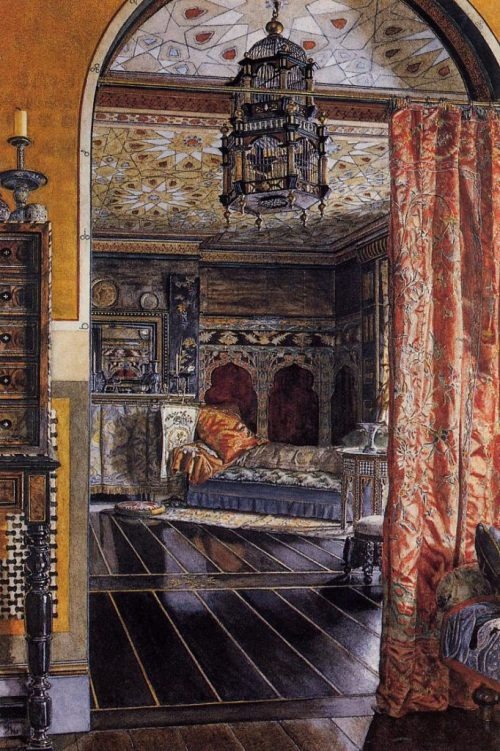 Tadema interieur blogger uit de 21ste eeuw | The Drawing Room | Townshend House 1885