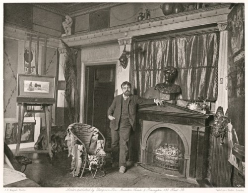 Joe Parkin Mayall | Alma Tadema atelier Townshend House | 1883