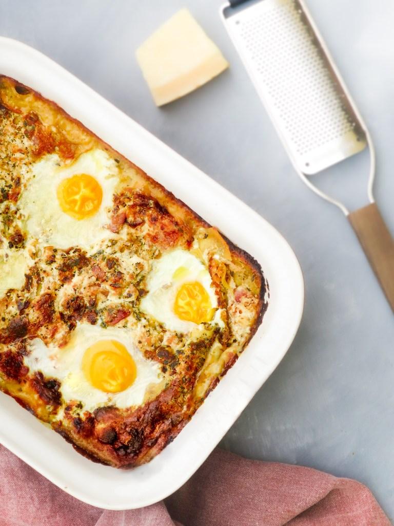 Lasagna carbonara