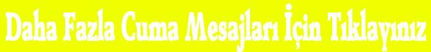 Cuma Günü Mesajları Yazılı