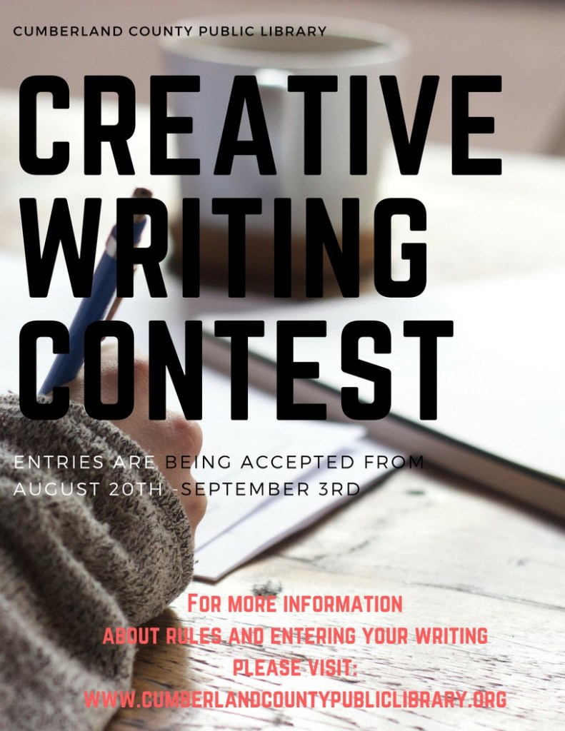 Creative Writing Contest Entries accepted August 20th through September 3rd
