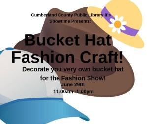 Bucket Hat Fashion Craft @ Cumberland County Public Library