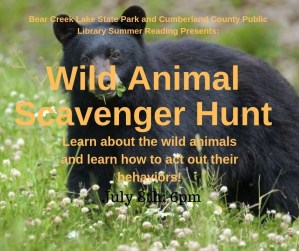 Wild Animal Scavenger Hunt @ Cumberland County Public Library