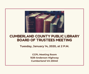 Library Board Meeting @ Cumberland County Public Library