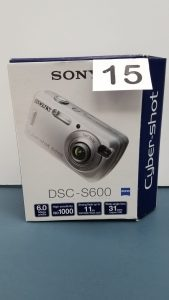 Sony Cyber-shot DSC=S600 Digital Still Camera with built-in flash. Batteries and memory card not included.