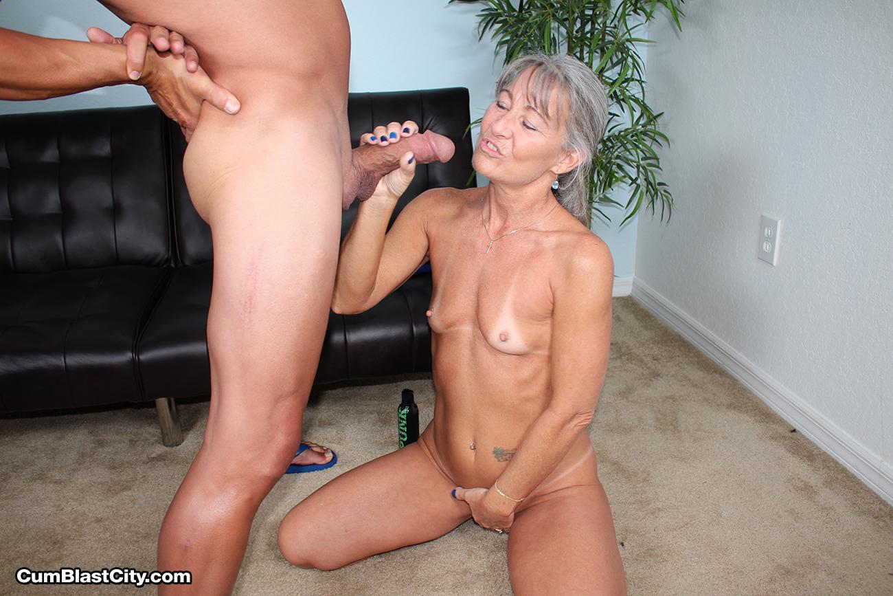 Horny Grannies Giving Handjob-4468