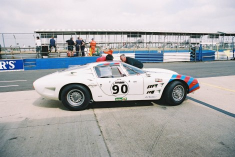 Racing Bizzarrini 5300 GT in the pit-lane at Silverstone