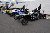 New Formula? No - F3 cars on space saver wheels