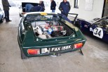 Lotus Europa in Silverstone Scrutineering Bay