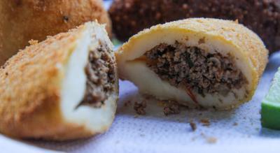 Rissole de carne do Bar do Mané no Taquaral - Cumbuca Bares e Botecos