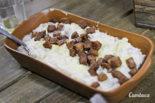 Rubacão: feijão-de-corda, arroz com nata, queijo coalho e carne de charque | Estação Baronesa