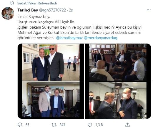 Sedat Peker, Süleyman Soylu'ya sorulması için sosyal medya hesabından soru paylaştı 15