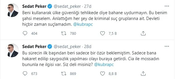 Sedat Peker'den Doğu Perinçek'in 'Peker Mossad'ın avucunda' sözlerine cevap 15