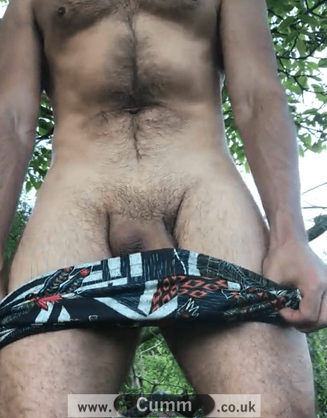 Boxers Down, Cock Exposed