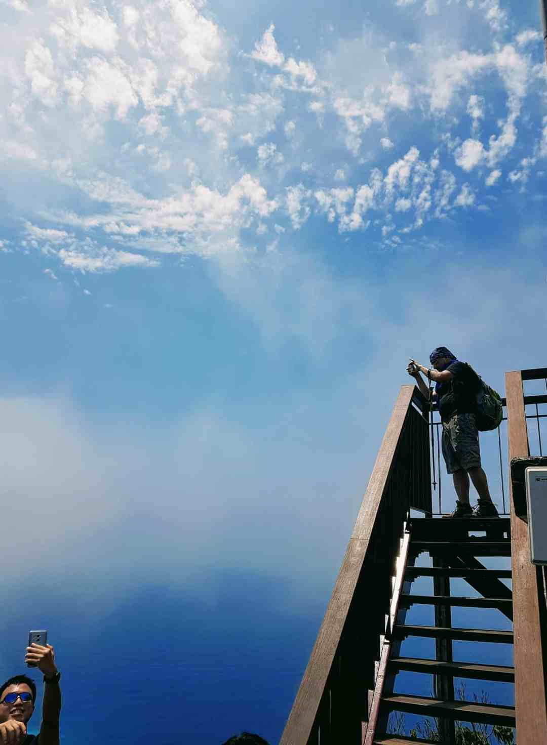 Beautiful Sky and Photos being taken by Harrison Hung