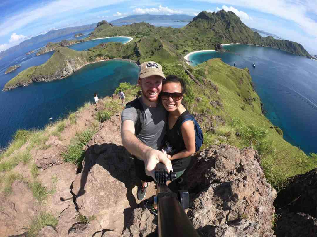 Padar Island Selfie in Indonesia.