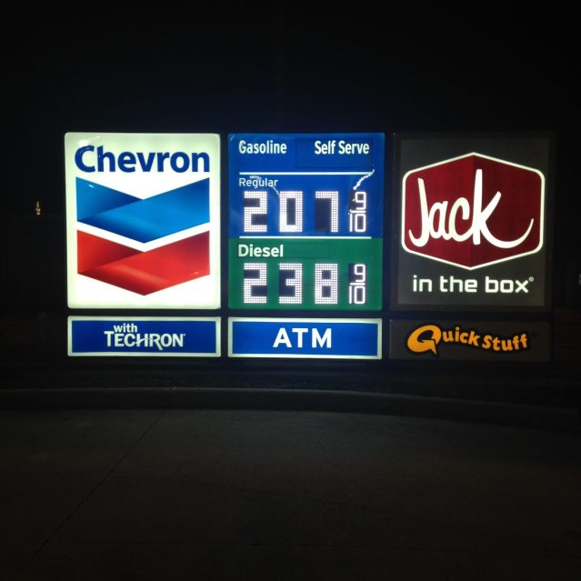 Chevron Monument - Night