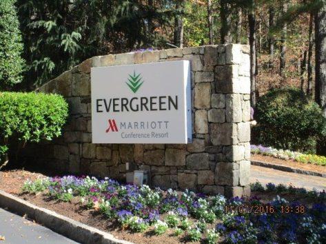 Marriott Evergreen Monument Sign
