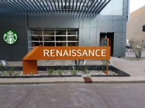 Renaissance Custom Ribbon Sign
