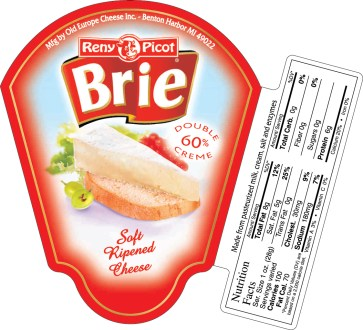 Cummins Label - brie label