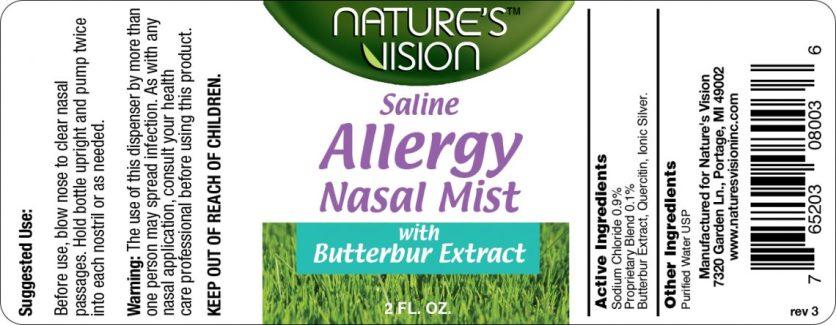 Cummins Label - Allergy mist label
