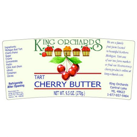 Cummins Label - cherry butter label