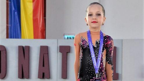 Elena Cașăriu, medaliată la Campionatul Național. FOTO Primăria Cumpăna