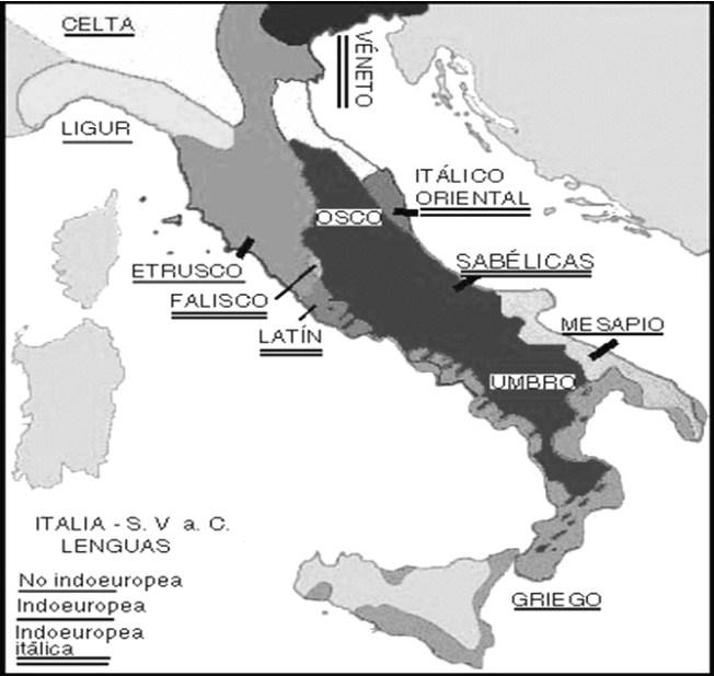 harta limbilor italice