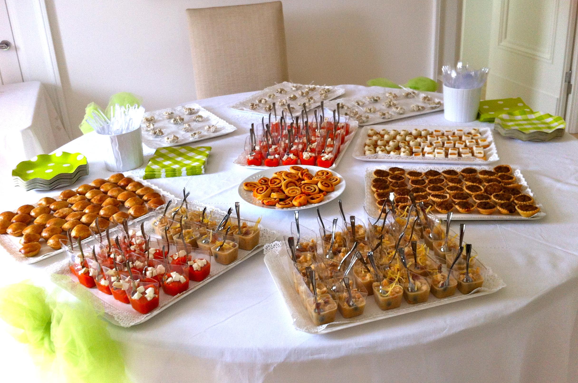 Il buffet degli antipasti per la prima comunione di for Idee buffet comunione