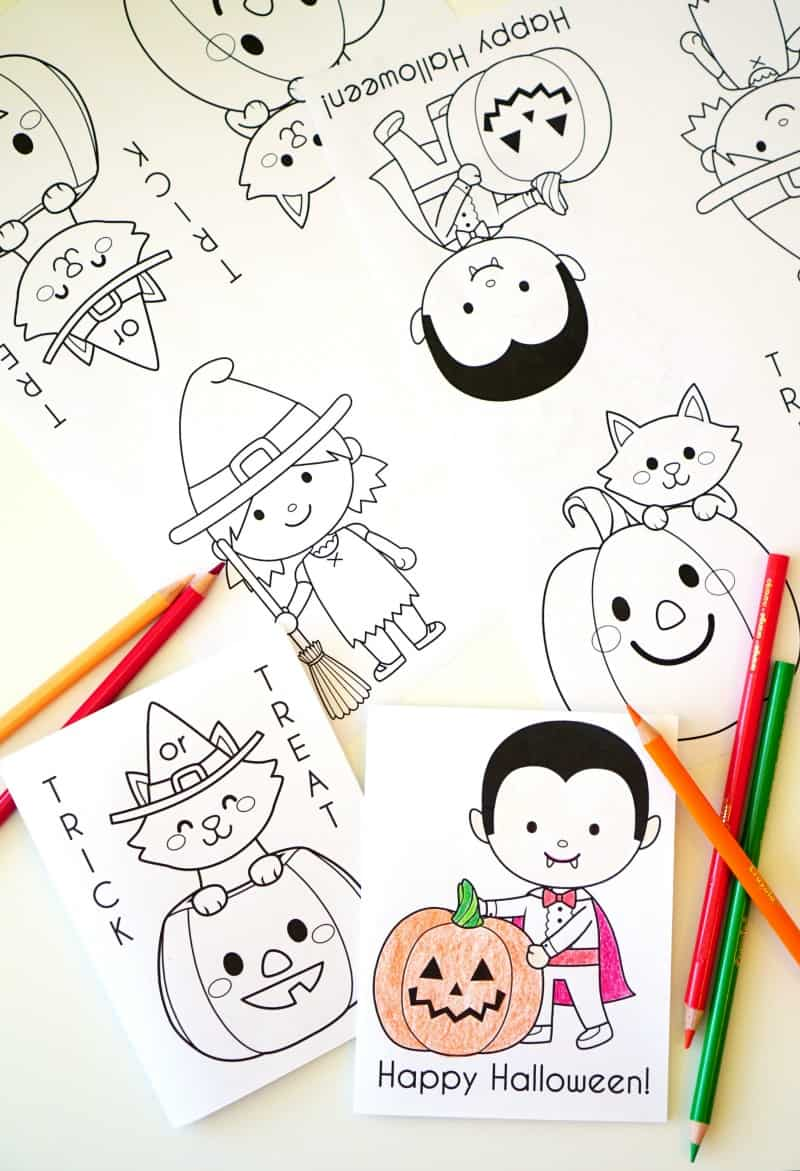 printable halloween coloring books 30 days of halloween 2016 day
