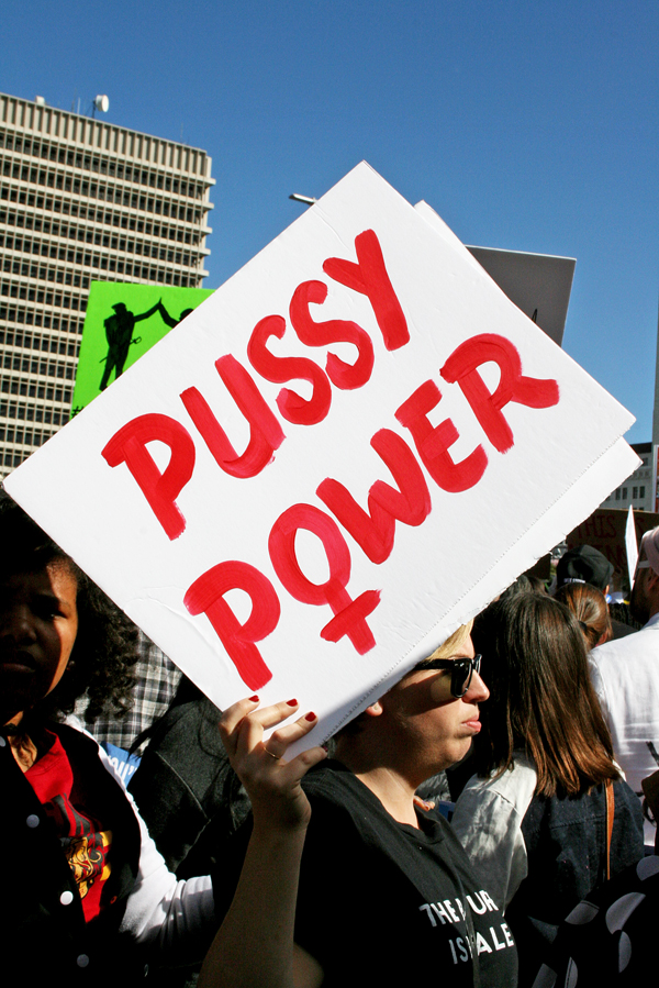 Women March Los Angeles Photos Pussy Power