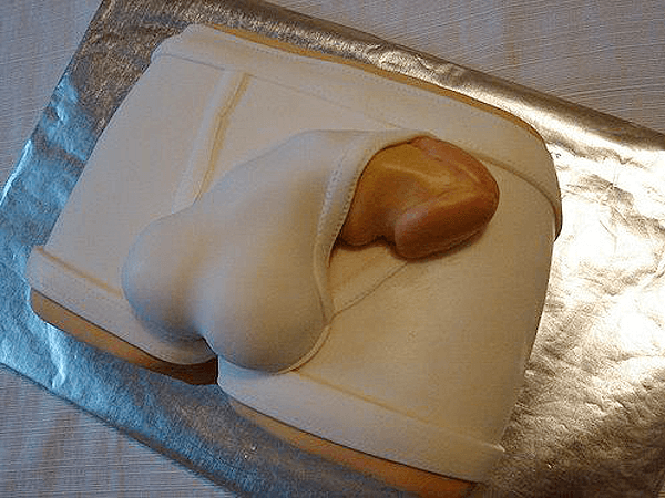 penis cake in tighty whities