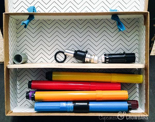 Upcycled Birchbox Silhouette Cameo Storage | Cupcakes&Crowbars