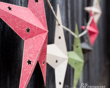 Gorgeous Star Garland With Free Cut File | www.cupcakesandcrowbars.com @cupcakescrowbar