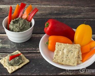 Roasted Poblano Hummus | Cupcakes&Crowbars @cupcakescrowbar